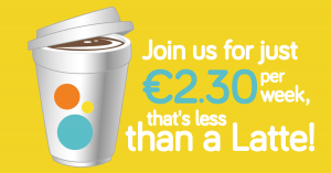 Join us, It's less than a Latte per week :)
